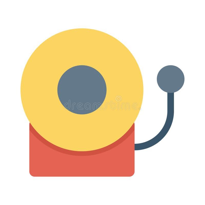 Icono de la campana de escuela ilustración del vector