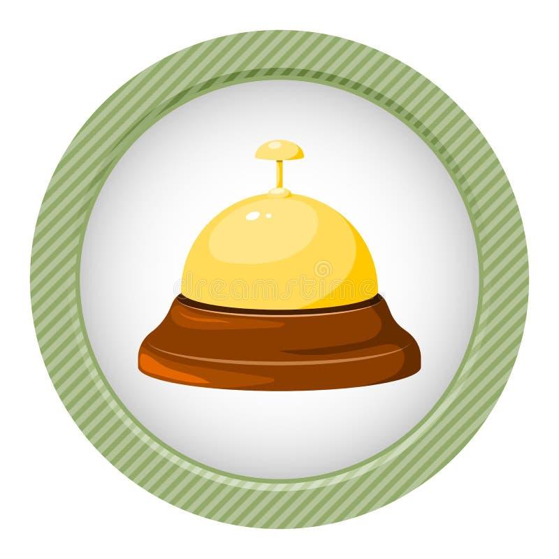 Icono de la campana de la recepción ilustración del vector
