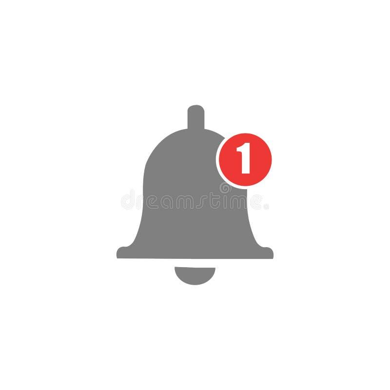 Icono de la campana del mensaje Iconos del timbre para los apps como youtube, el sonido alerta o el símbolo de la alarma del susc ilustración del vector