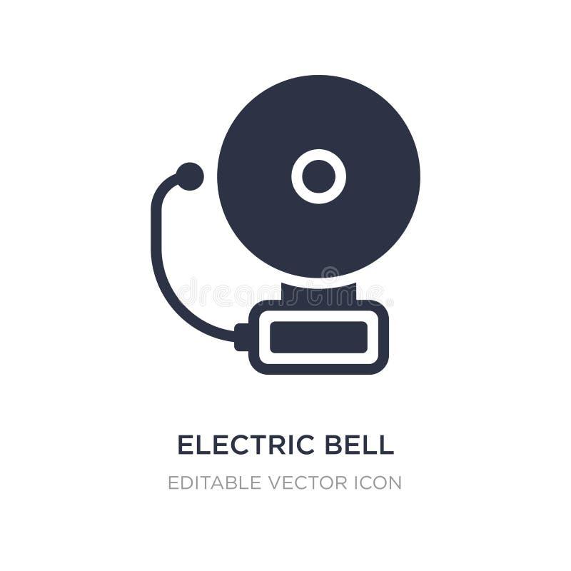 icono de la campana eléctrica en el fondo blanco Ejemplo simple del elemento del concepto de las herramientas y de los utensilios stock de ilustración