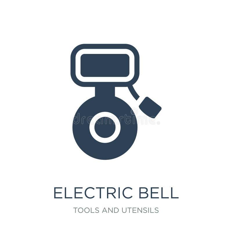 icono de la campana eléctrica en estilo de moda del diseño icono de la campana eléctrica aislado en el fondo blanco icono del vec ilustración del vector