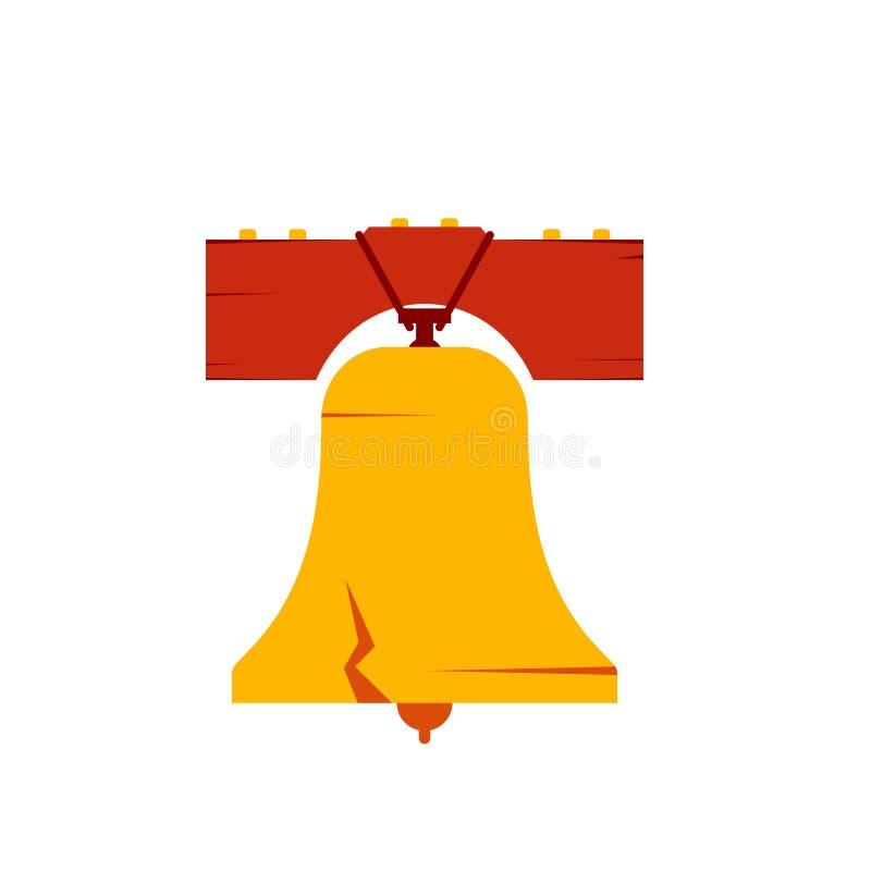 Icono de la campana de libertad stock de ilustración