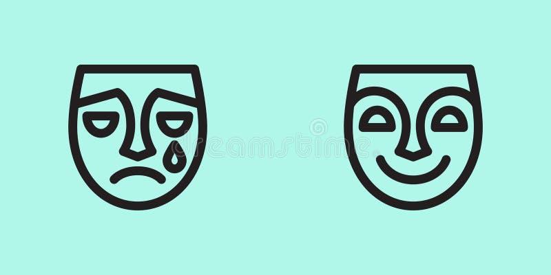 Icono de la cara fotografía de archivo
