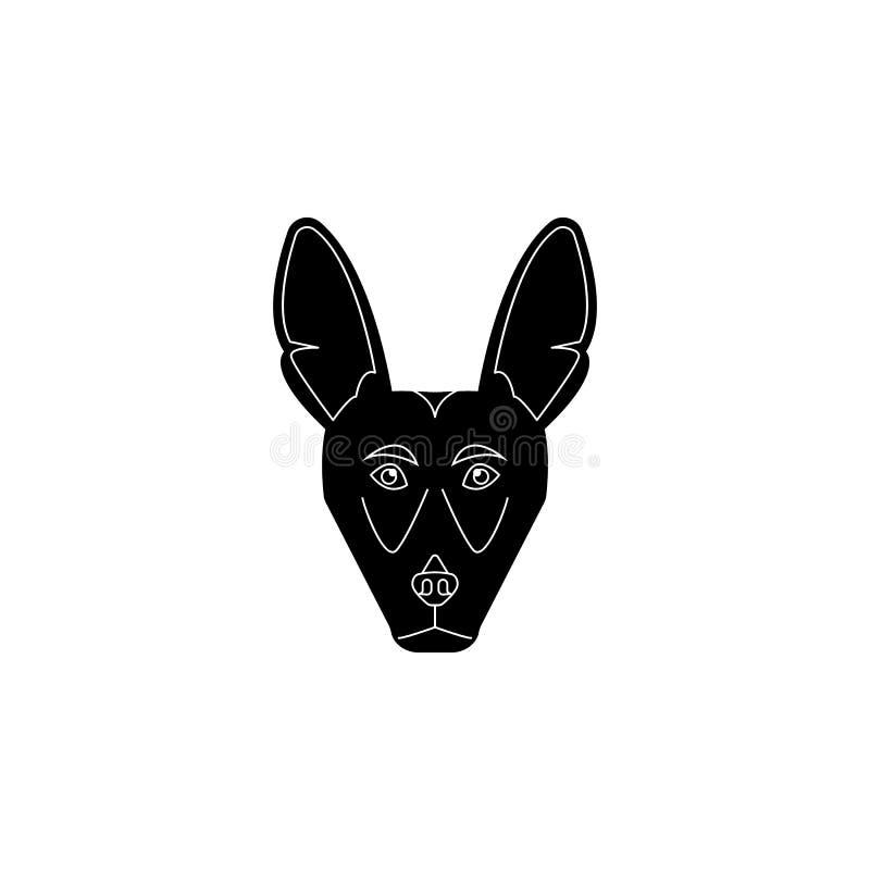 Icono de la cara de la chihuahua Raza popular del icono del elemento de los perros Icono superior del diseño gráfico de la calida stock de ilustración