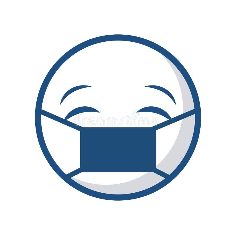 Icono de la cara del Emoticon ilustración del vector