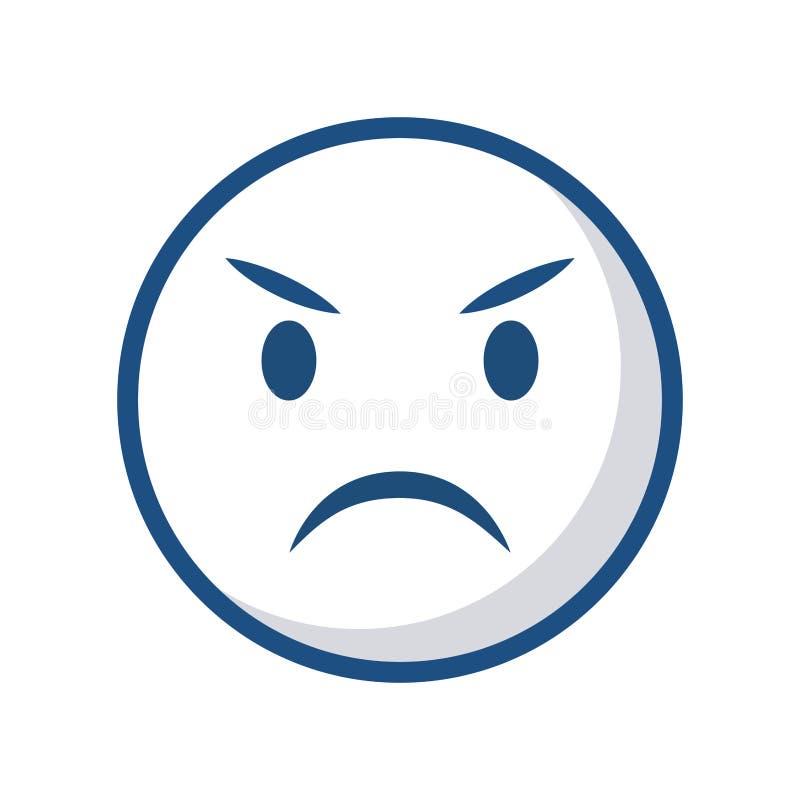 Icono de la cara del Emoticon stock de ilustración