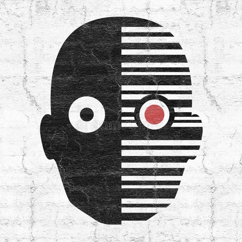 Icono de la cara del robot libre illustration