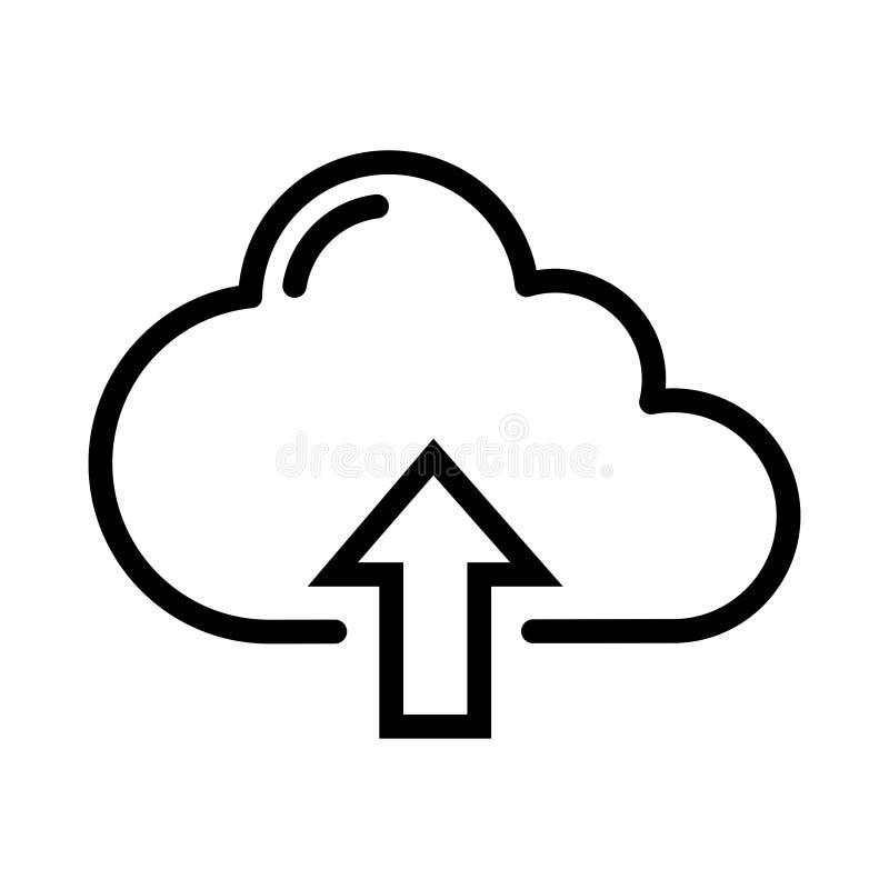 Icono de la carga por teletratamiento de la nube libre illustration