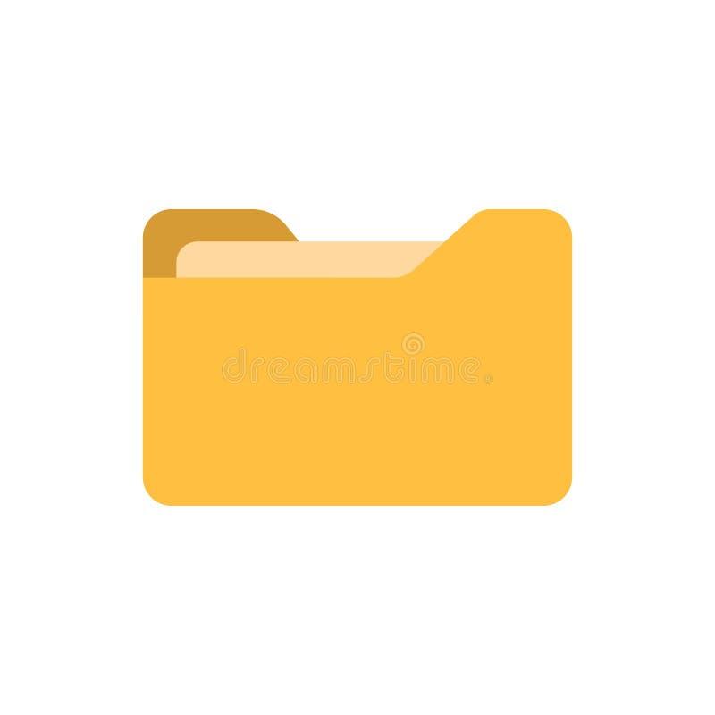Icono de la carpeta de archivos en estilo plano Ejemplo del vector de los archivos documentales en el fondo aislado blanco Concep stock de ilustración