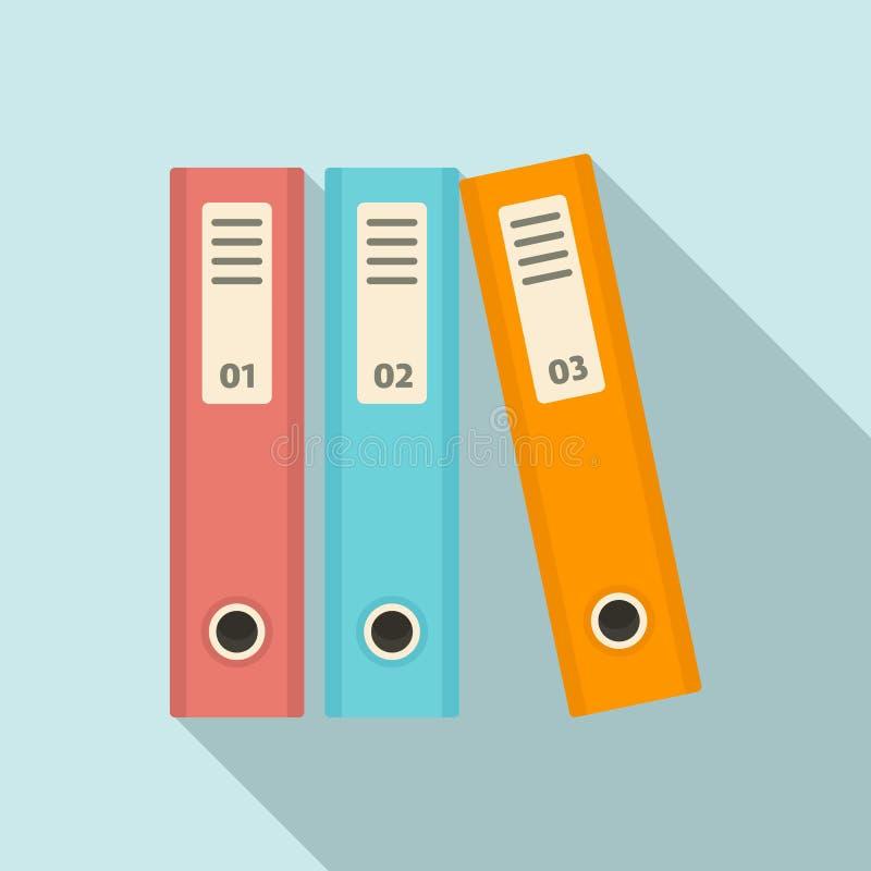 Icono de la carpeta de archivos, estilo plano ilustración del vector