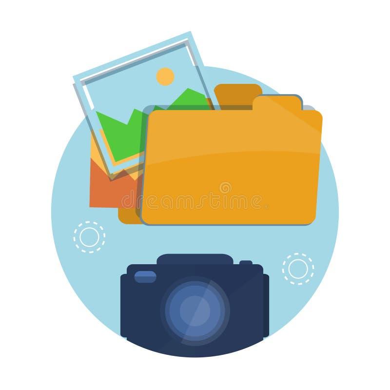 Icono de la carpeta con las imágenes libre illustration