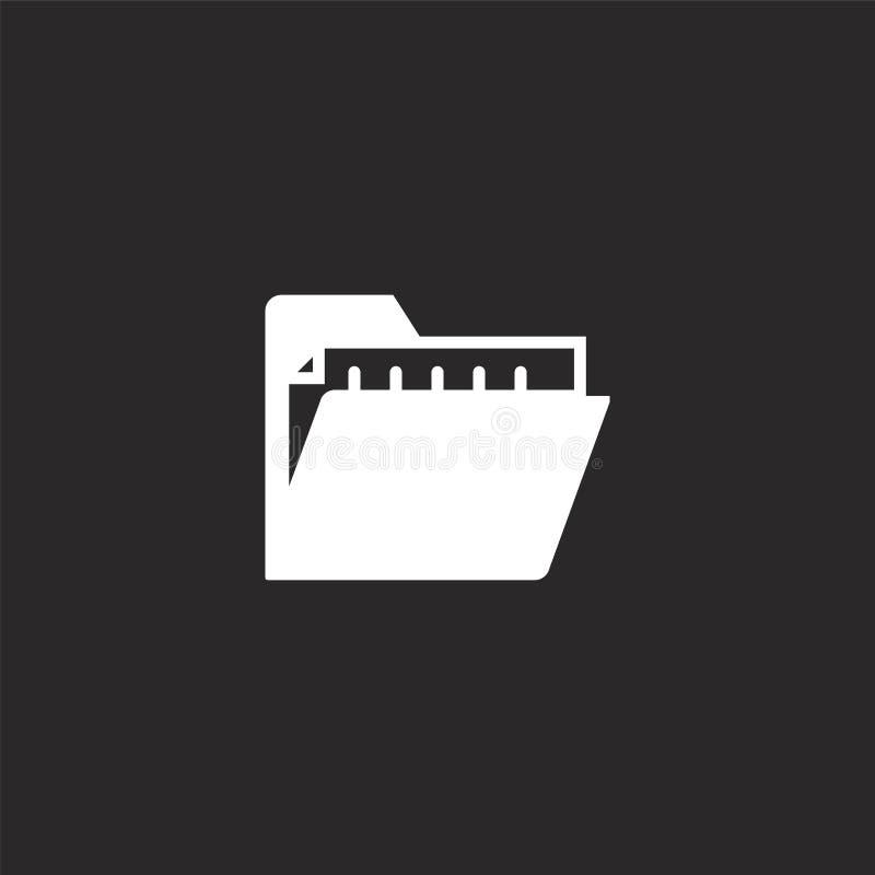 Icono de la carpeta Icono llenado de la carpeta para el diseño y el móvil, desarrollo de la página web del app icono de la carpet libre illustration