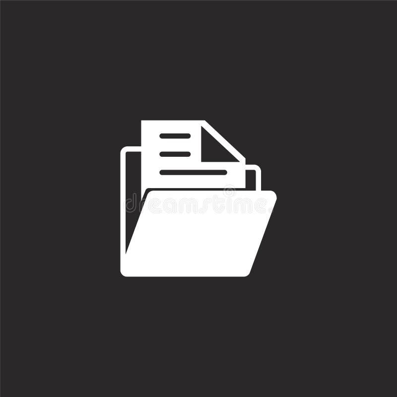 Icono de la carpeta Icono llenado de la carpeta para el diseño y el móvil, desarrollo de la página web del app icono de la carpet ilustración del vector