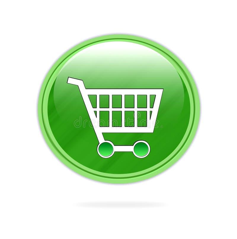 Icono de la carretilla de las compras ilustración del vector