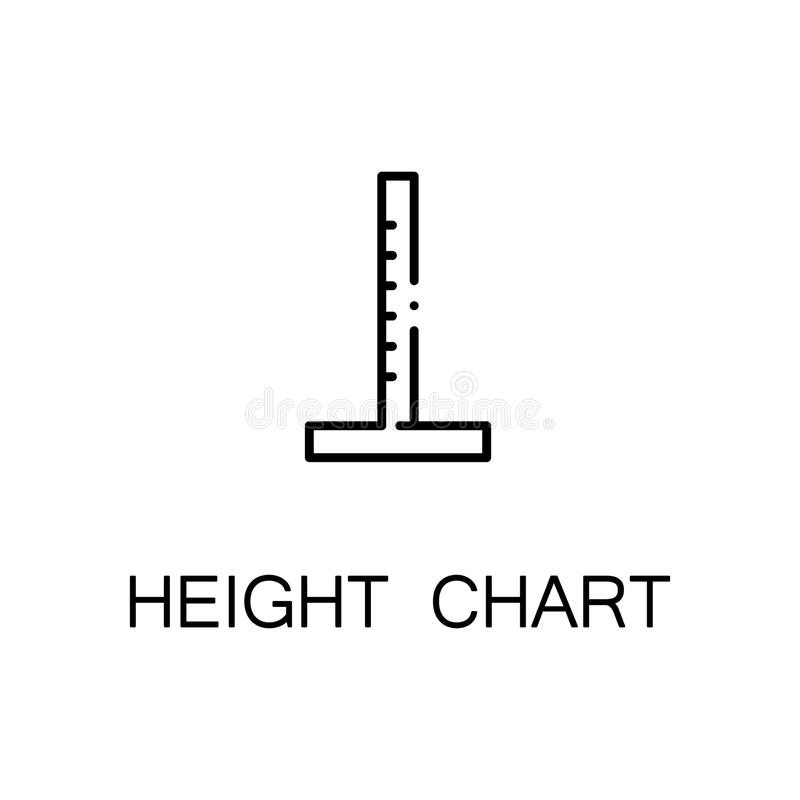 Icono de la carta de la altura stock de ilustración