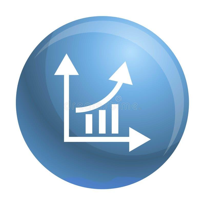 Icono de la carta del gráfico de las finanzas, estilo simple stock de ilustración
