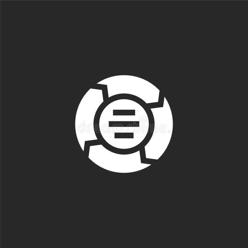 Icono de la carta Icono llenado de la carta para el diseño y el móvil, desarrollo de la página web del app icono de la carta de l ilustración del vector