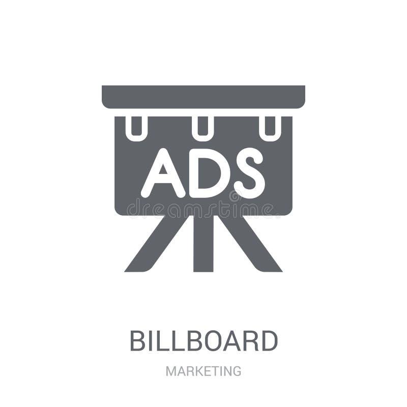 Icono de la cartelera  stock de ilustración