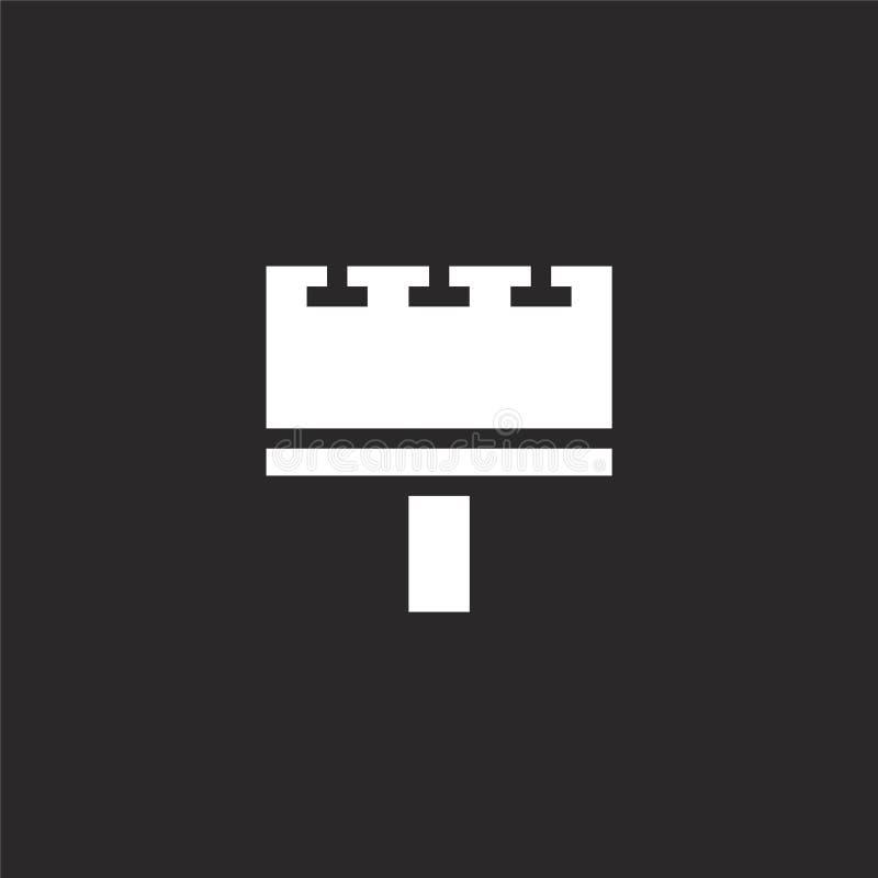 Icono de la cartelera Icono llenado de la cartelera para el diseño y el móvil, desarrollo de la página web del app icono de la ca libre illustration