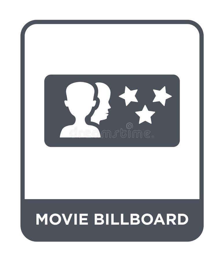 icono de la cartelera de la película en estilo de moda del diseño icono de la cartelera de la película aislado en el fondo blanco libre illustration