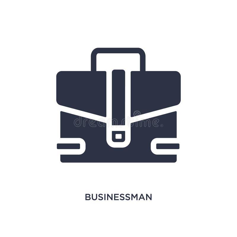 icono de la cartera del hombre de negocios en el fondo blanco Ejemplo simple del elemento del concepto de las herramientas ilustración del vector