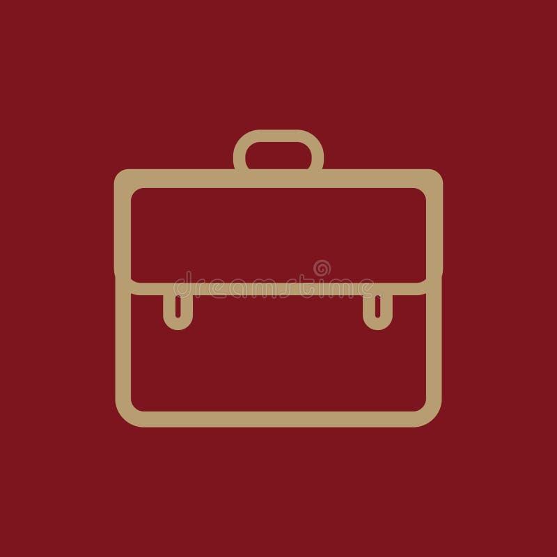 Icono de la cartera, ejemplo del vector libre illustration