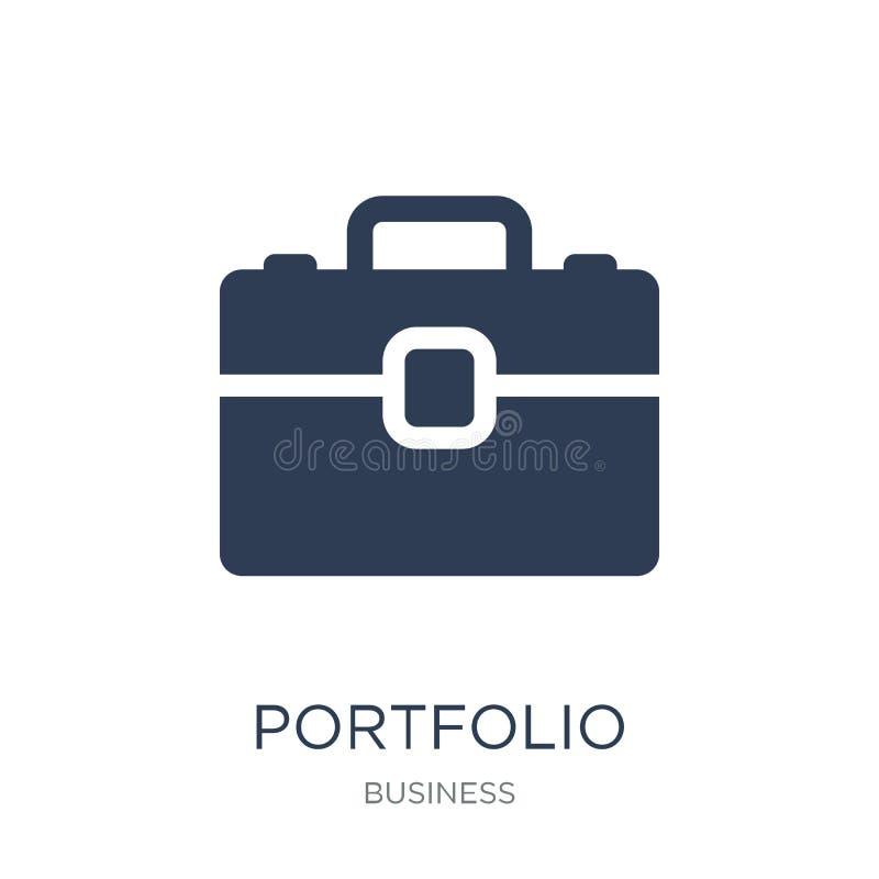 Icono de la cartera Icono plano de moda de la cartera del vector en el backg blanco stock de ilustración