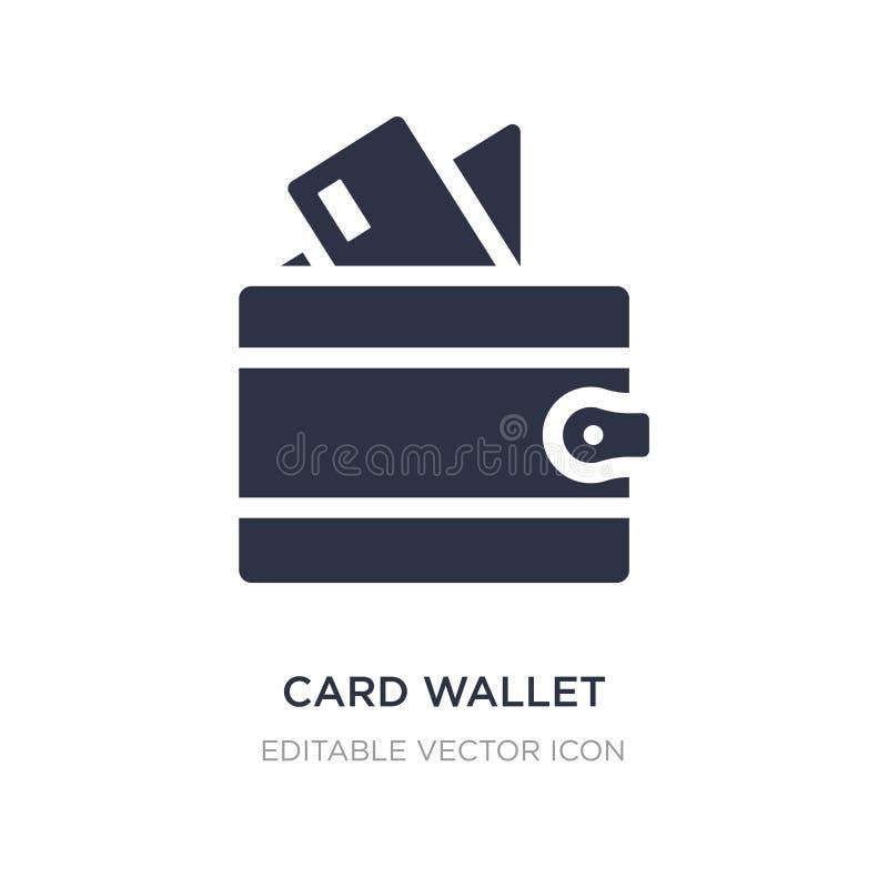 icono de la cartera de la tarjeta en el fondo blanco Ejemplo simple del elemento del concepto general stock de ilustración