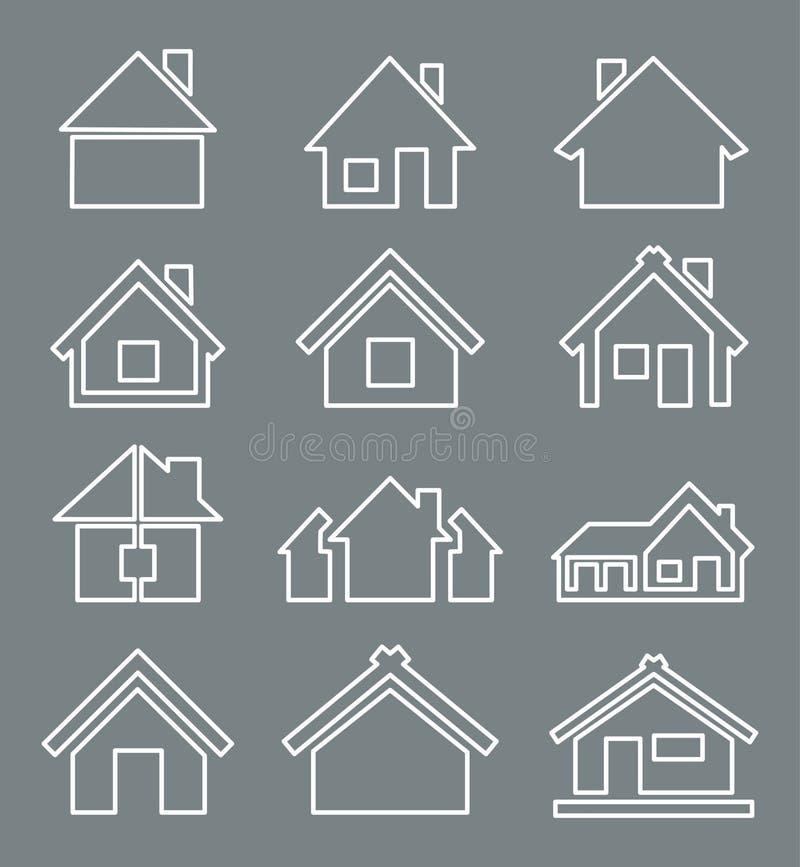 Icono de la casa del esquema libre illustration