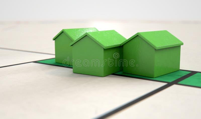 Icono de la casa en un Boardgame stock de ilustración