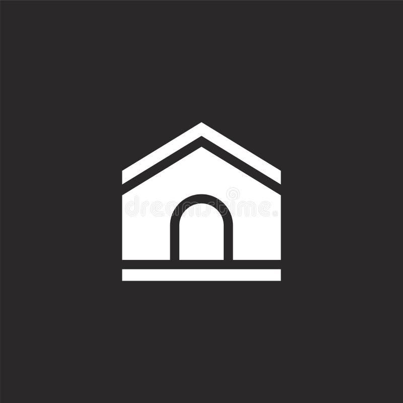 Icono de la casa de perro Icono llenado de la casa de perro para el diseño y el móvil, desarrollo de la página web del app Icono  stock de ilustración