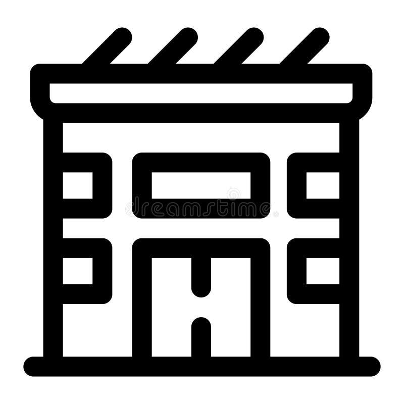 Icono de la casa solar de Eco, estilo del esquema libre illustration