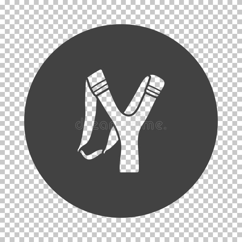 Icono de la catapulta de la caza stock de ilustración