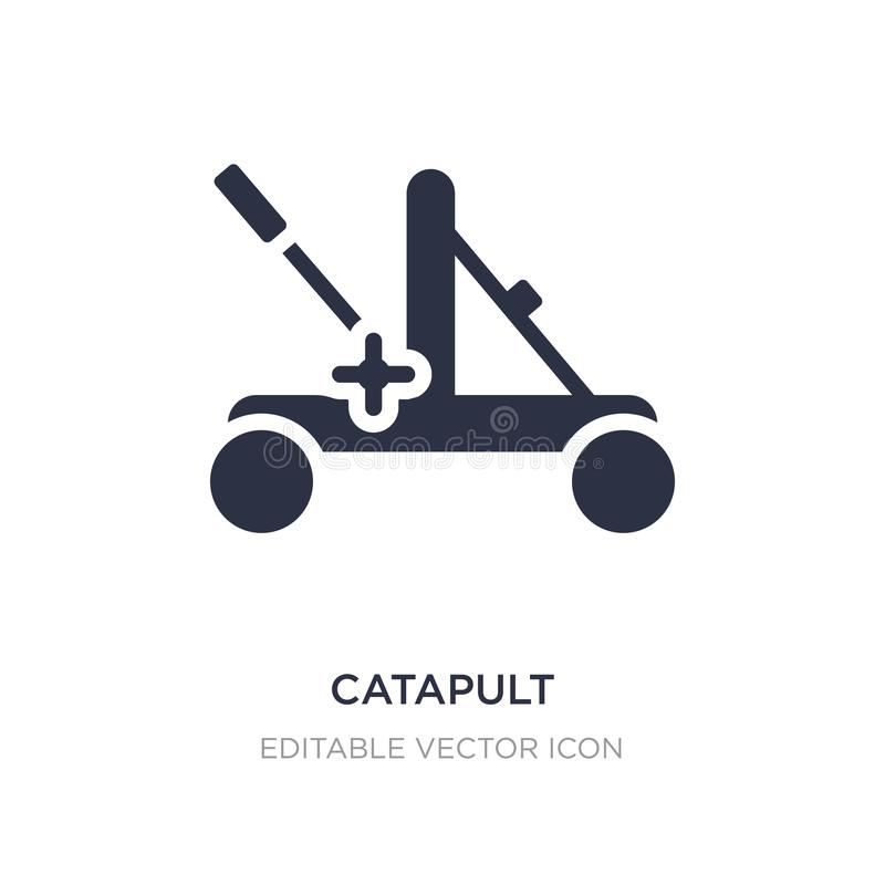 icono de la catapulta en el fondo blanco Ejemplo simple del elemento del concepto diverso ilustración del vector