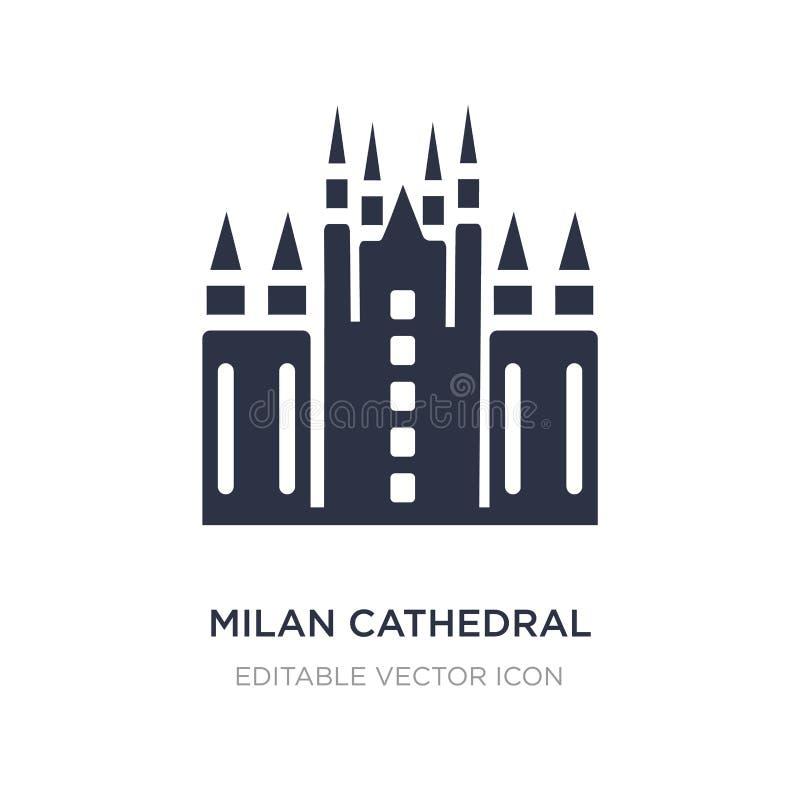 icono de la catedral de Milano en el fondo blanco Ejemplo simple del elemento del concepto de los monumentos libre illustration