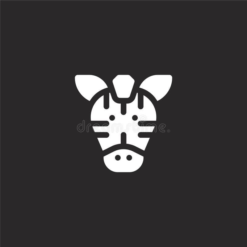 Icono de la cebra Icono llenado de la cebra para el diseño y el móvil, desarrollo de la página web del app icono de la cebra de l ilustración del vector