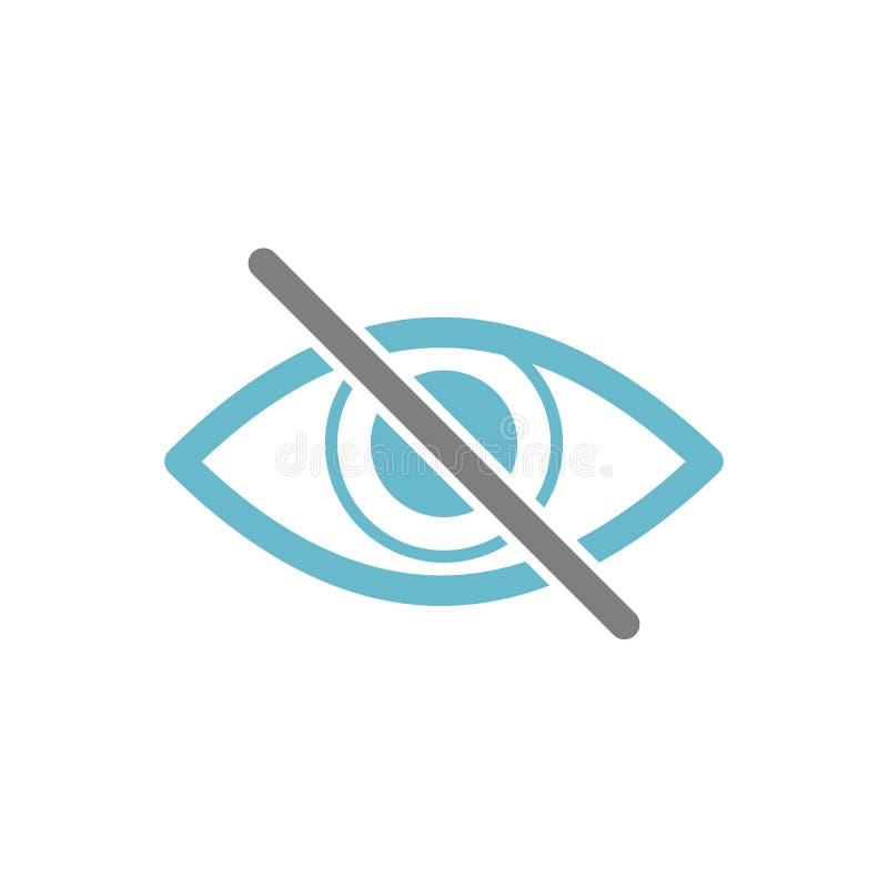 Icono de la ceguera en el fondo blanco para el gráfico y el diseño web, muestra simple moderna del vector Concepto del Internet S stock de ilustración