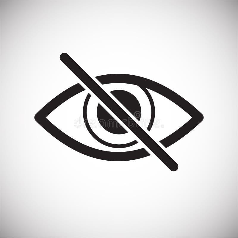 Icono de la ceguera en el fondo blanco para el gráfico y el diseño web, muestra simple moderna del vector Concepto del Internet S libre illustration