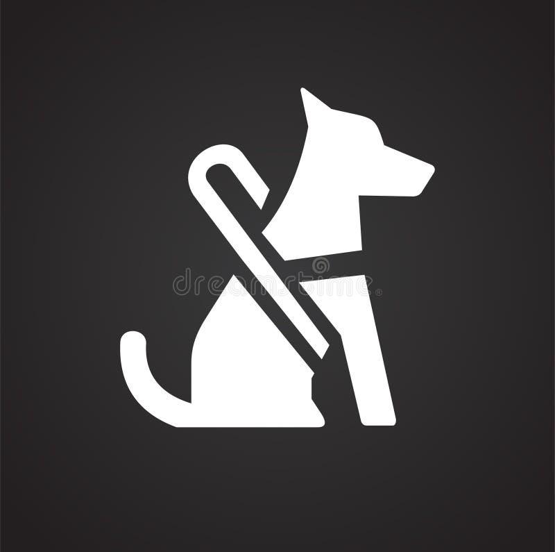 Icono de la ceguera en el fondo negro para el gráfico y el diseño web, muestra simple moderna del vector Concepto del Internet Sí libre illustration