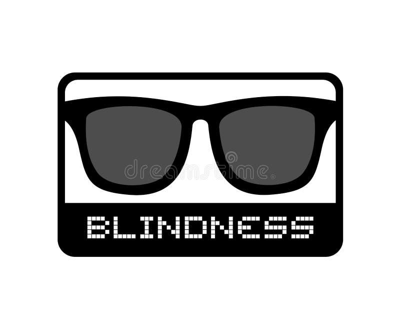 Icono de la ceguera de los vidrios libre illustration