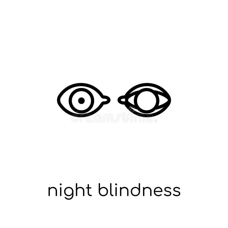 Icono de la ceguera de noche  stock de ilustración