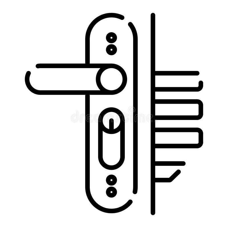 Icono de la cerradura de puerta libre illustration