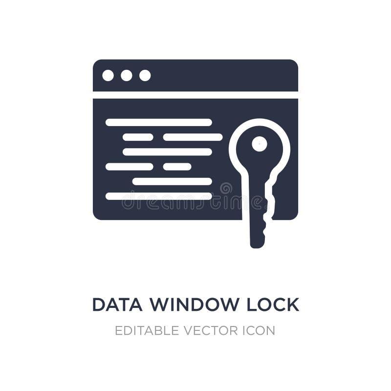 icono de la cerradura de ventana de los datos en el fondo blanco Ejemplo simple del elemento del concepto de la seguridad stock de ilustración