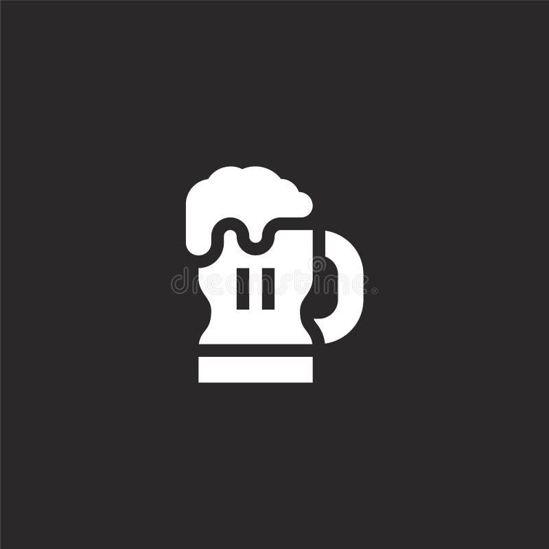 Icono de la cerveza Icono llenado de la cerveza para el diseño y el móvil, desarrollo de la página web del app icono de la cervez ilustración del vector