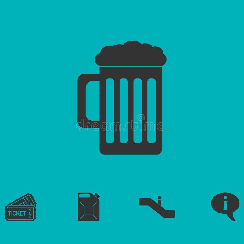 Icono de la cerveza plano libre illustration