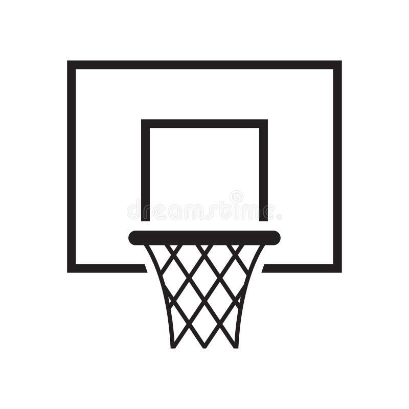 Icono de la cesta del baloncesto Ilustración del vector ilustración del vector