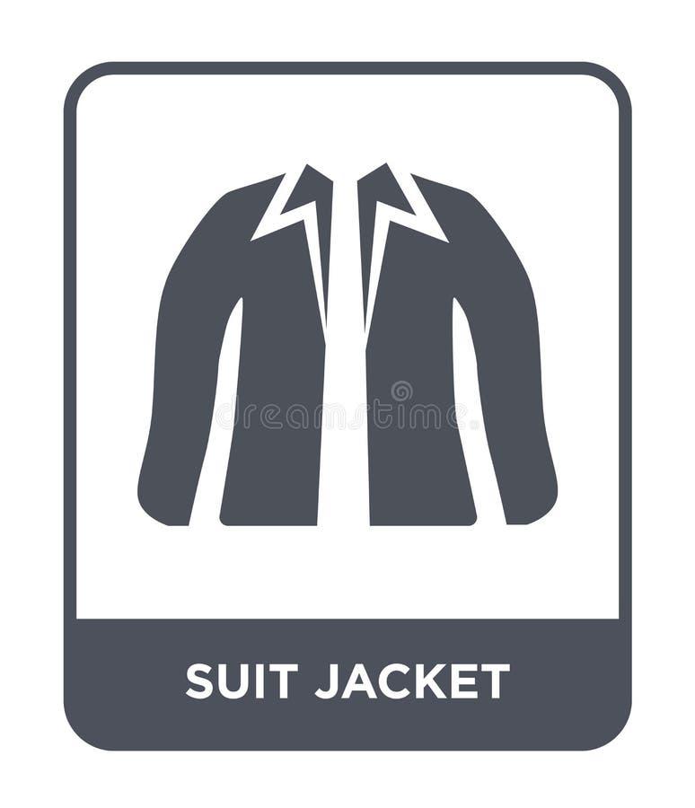 icono de la chaqueta del traje en estilo de moda del diseño icono de la chaqueta del traje aislado en el fondo blanco icono del v libre illustration