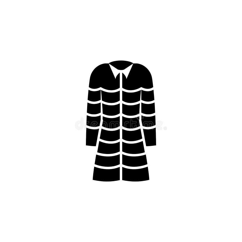 Icono de la chaqueta en el fondo blanco Ropa o ropa o moda para el ejemplo del vector del icono de la mujer del hombre ilustración del vector