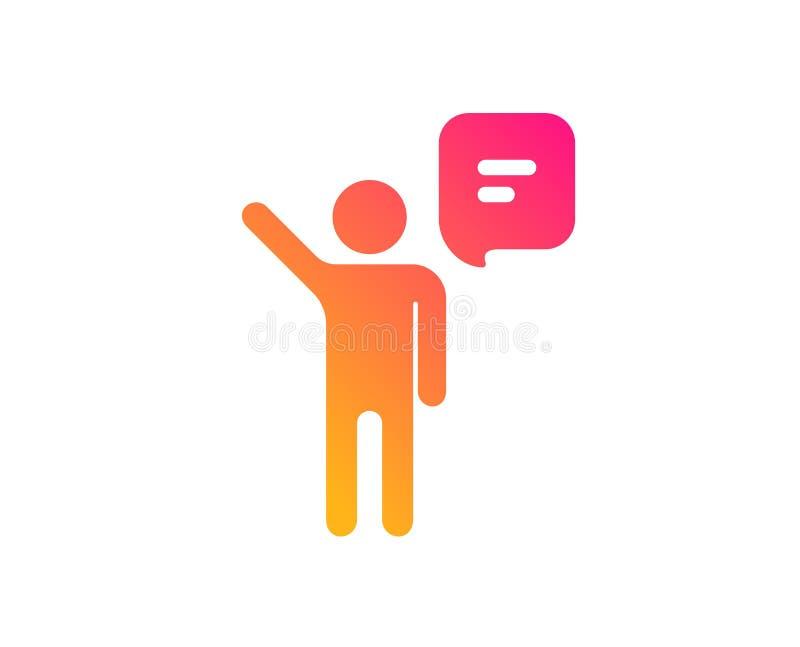 Icono de la charla del agente Muestra de la gesti?n de negocio Vector libre illustration