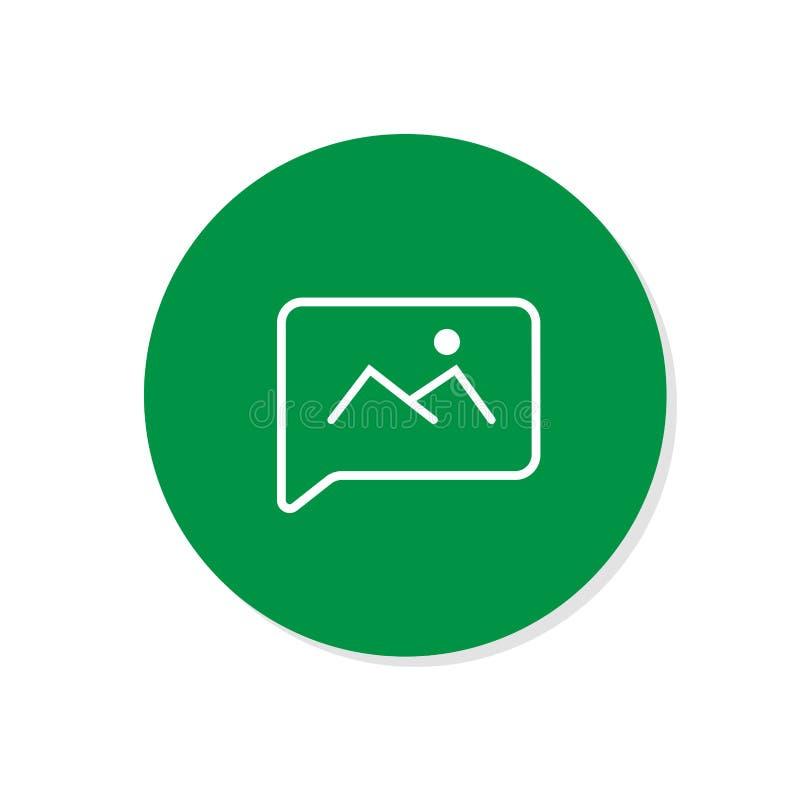Icono de la charla Icono del vector de la burbuja del discurso de la voz Icono de los mensajes Comunique el símbolo ilustración del vector